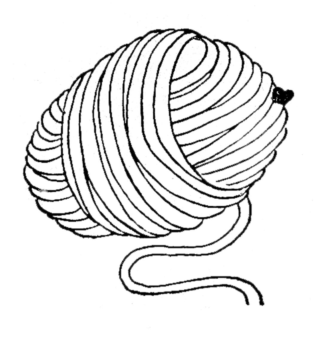 Wool clipart black and white 5 » Clipart Station.