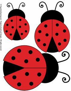 Lumenaris Ladybug Garden Ornament Wool Felt Kit Set Of 6.