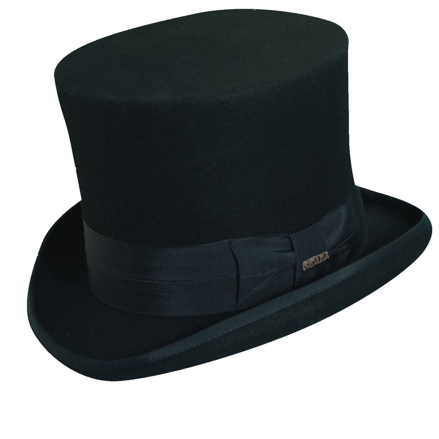 Wool Felt Top Hat With 7 Inch Crown Clipart.