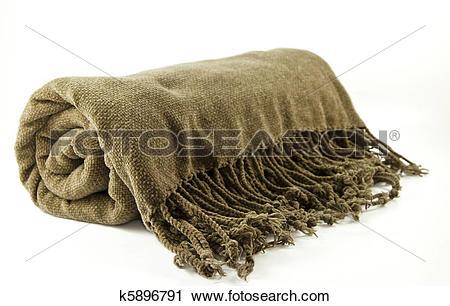 Stock Photography of Cozy fringe blanket k5896791.