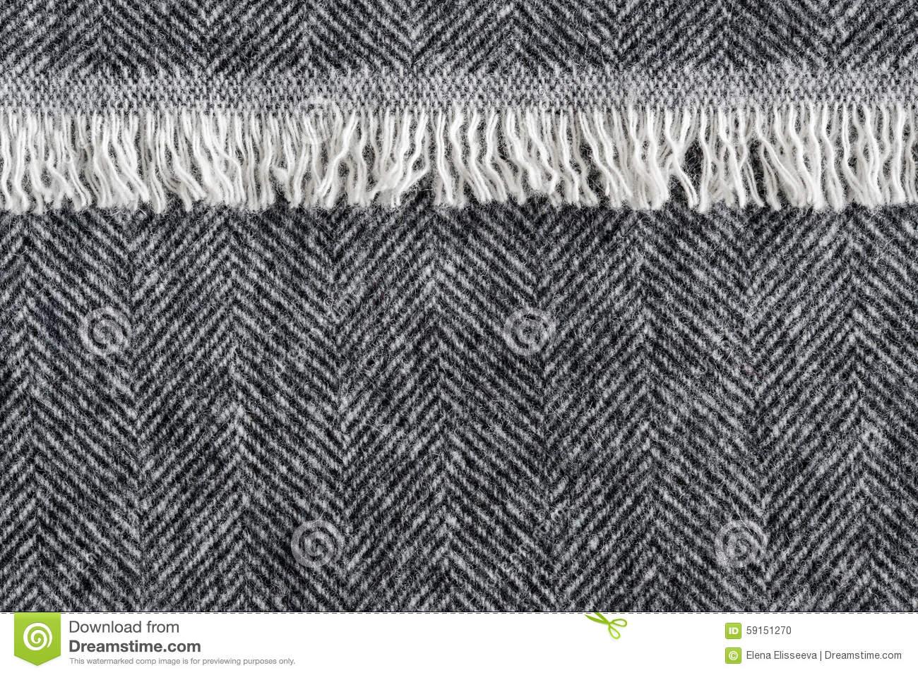 Herringbone Tweed Background Stock Photo.
