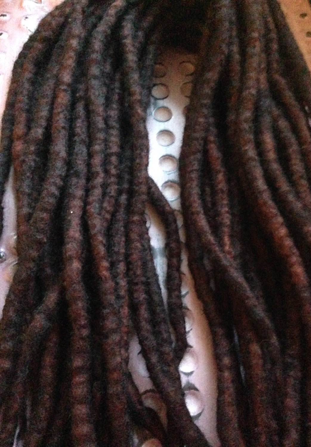 Wool dreads.
