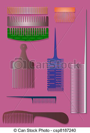 Vector Clipart of A comb..