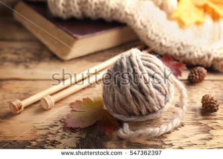 New Knitting Wool Stock Photos, Royalty.