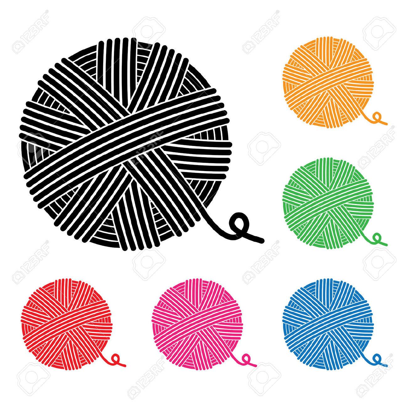 Vector Set Of Yarn Ball Icons Royalty Free Cliparts, Vectors, And.