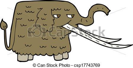 Clip Art Vector of cartoon woolly mammoth csp17743769.