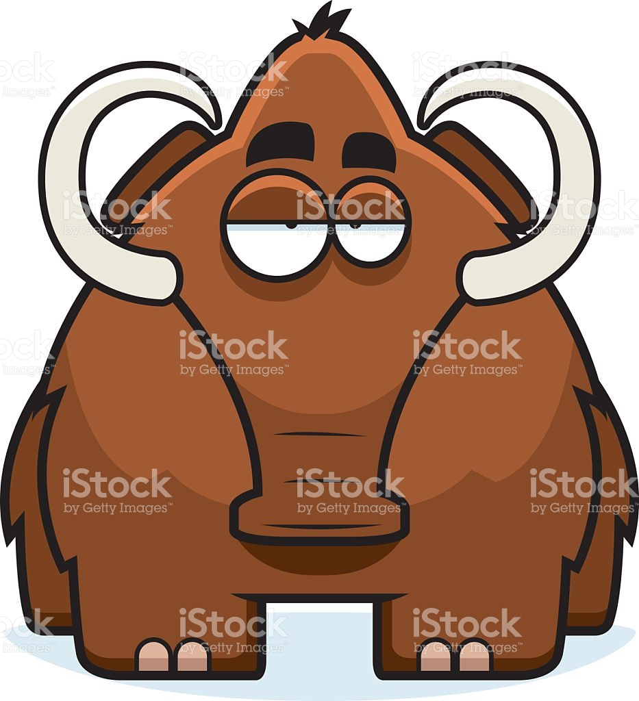 Cartoon Woolly Mammoth stock vector art 501060835.