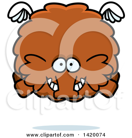 Clipart Wooly Mammoth In Love.