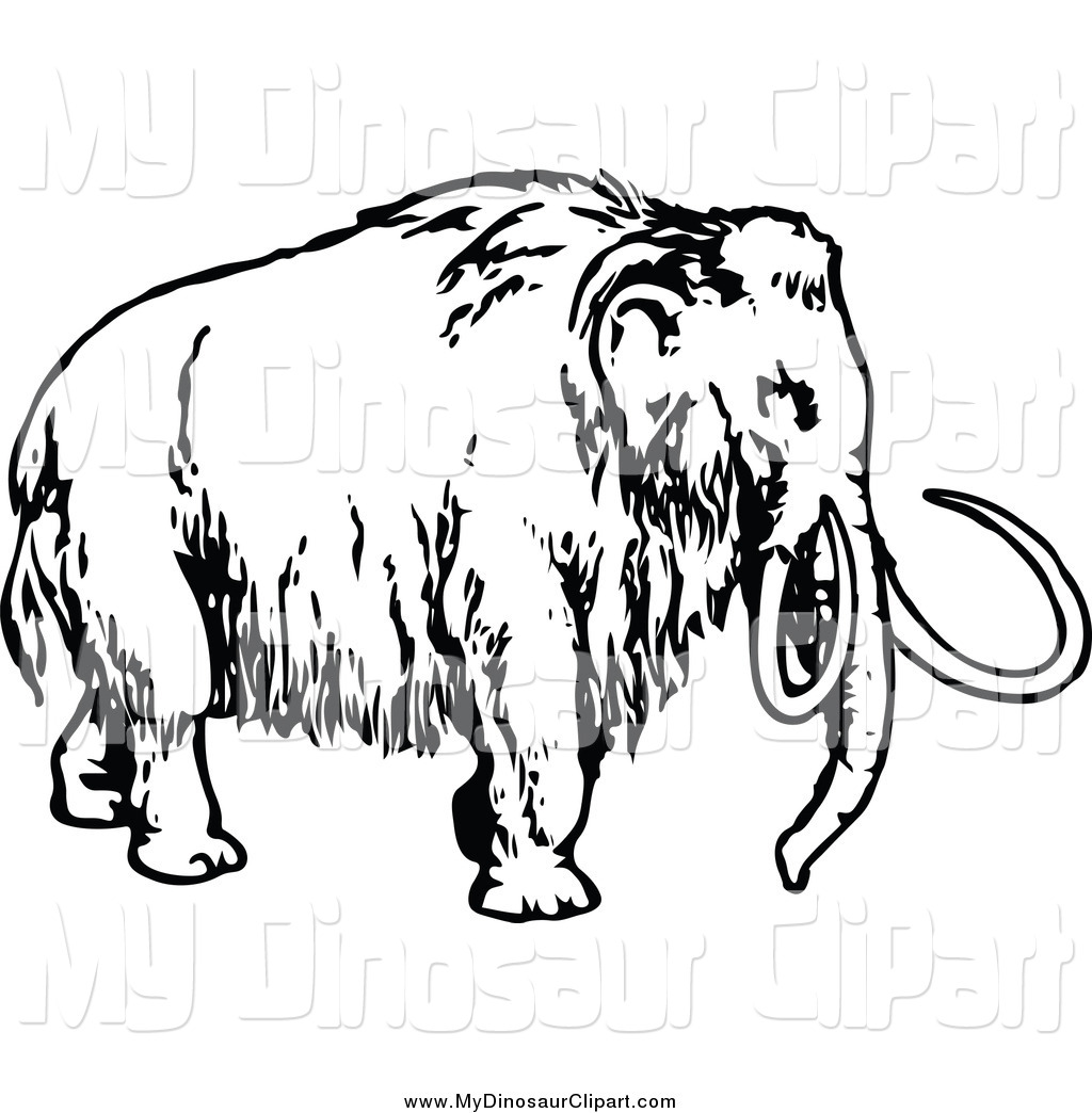 Royalty Free Stock Dinosaur Designs of Mammoths.