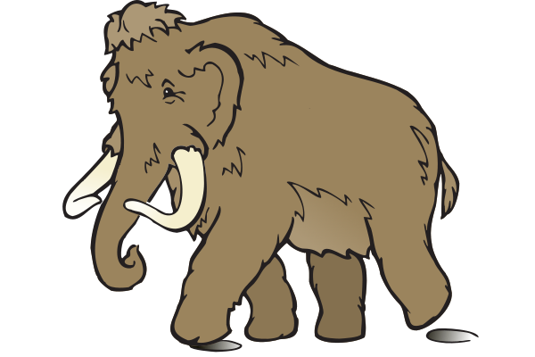 Wooly Mammoth SVG Vector file, vector clip art svg file.