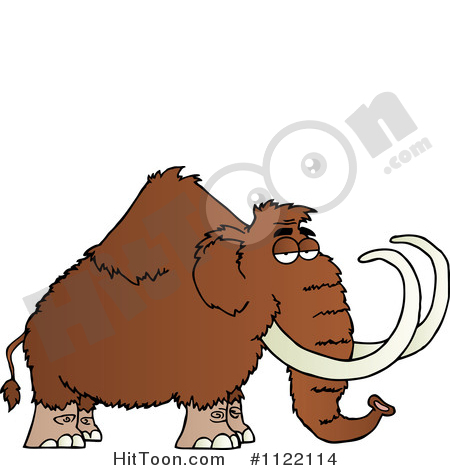 Mammoth Clipart #1122114: Wooly Mammoth by Hit Toon.