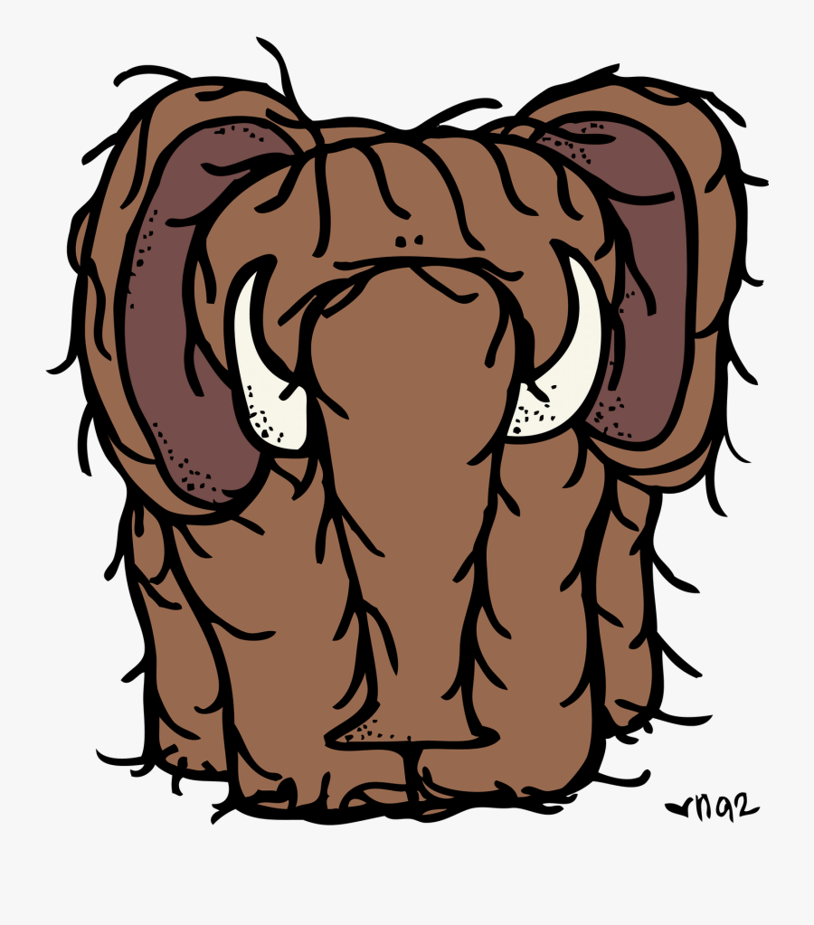 Clipart Wooly Mammoth Head.