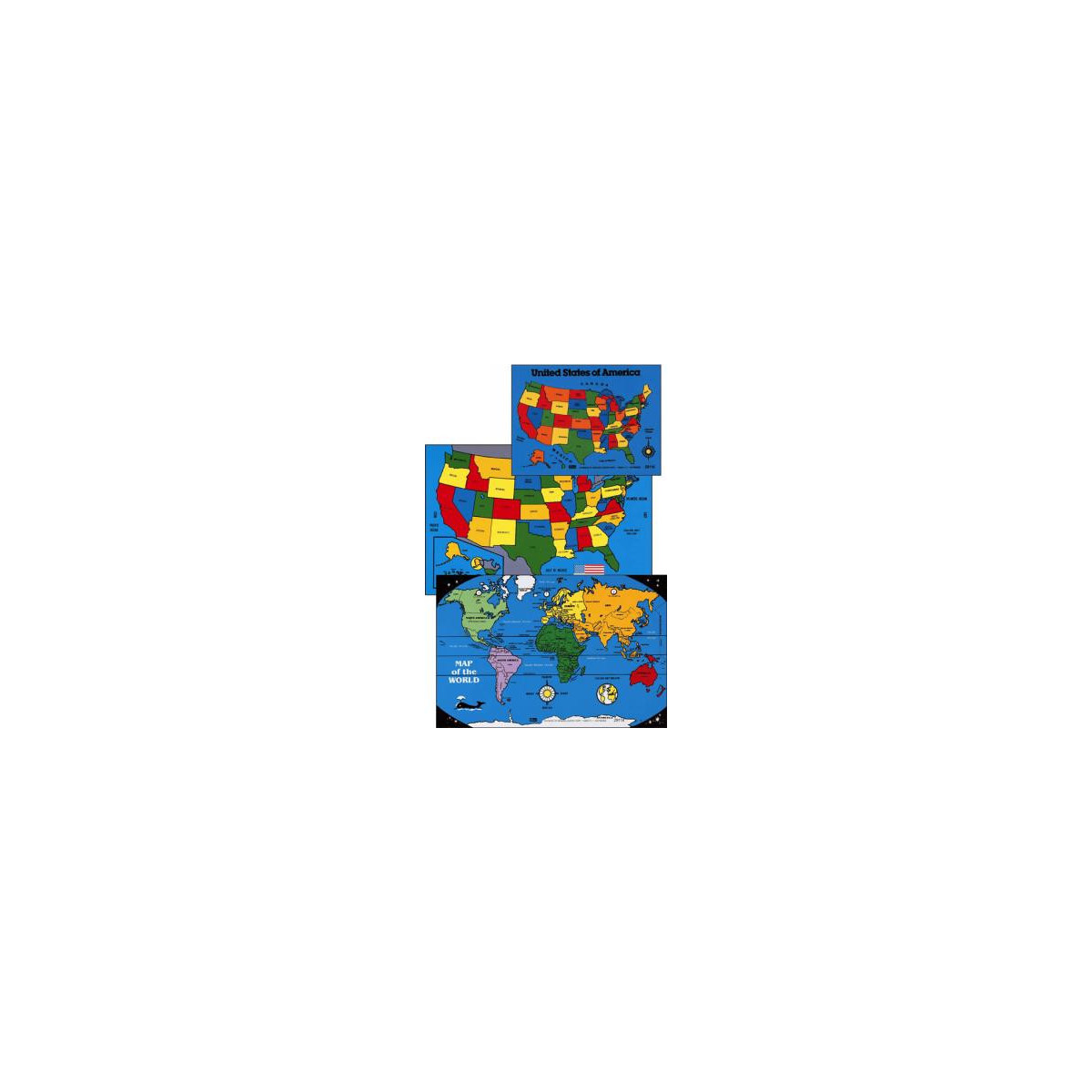 CYBER SPECIAL Large World Map Puzzle ~ 12 inches x 18 inches ~ 28 Pieces.