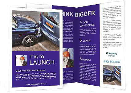 Car Crash Brochure Template.