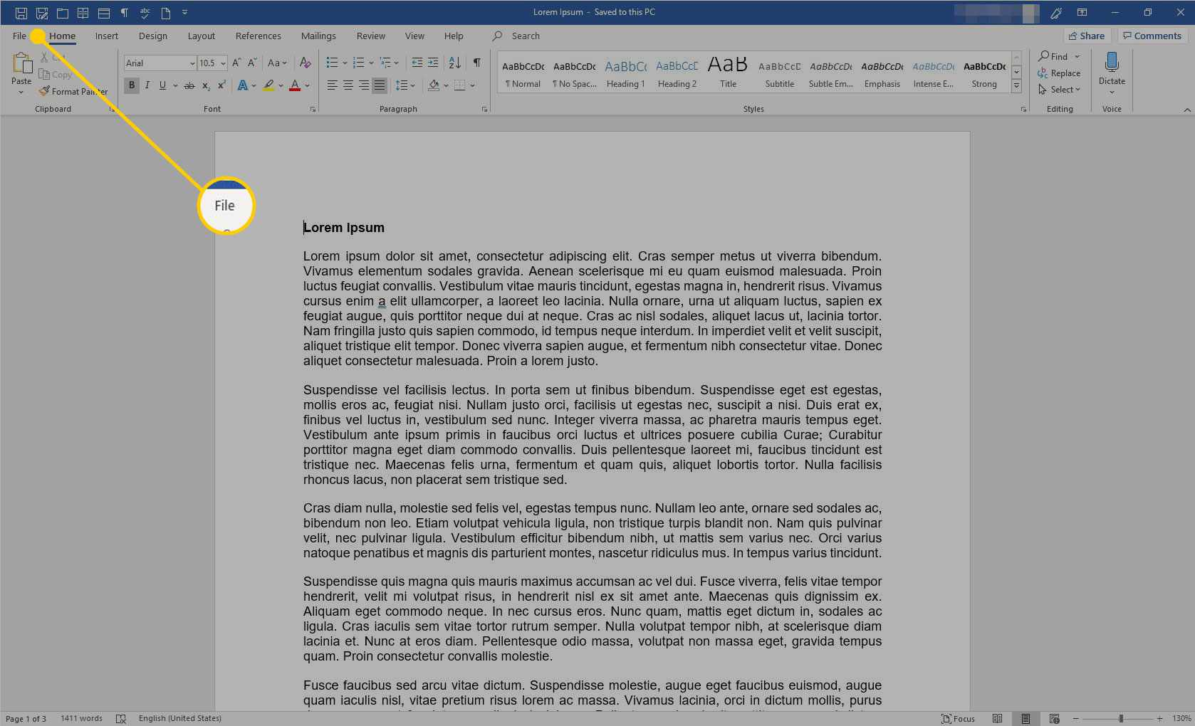 Printing Only Part of a Word Document.