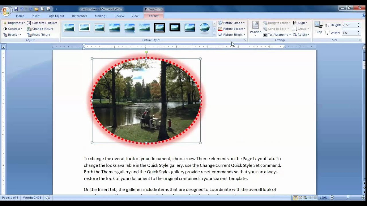Insert Picture In Microsoft Word Tamil by Tutor Joe\'s Stanley.