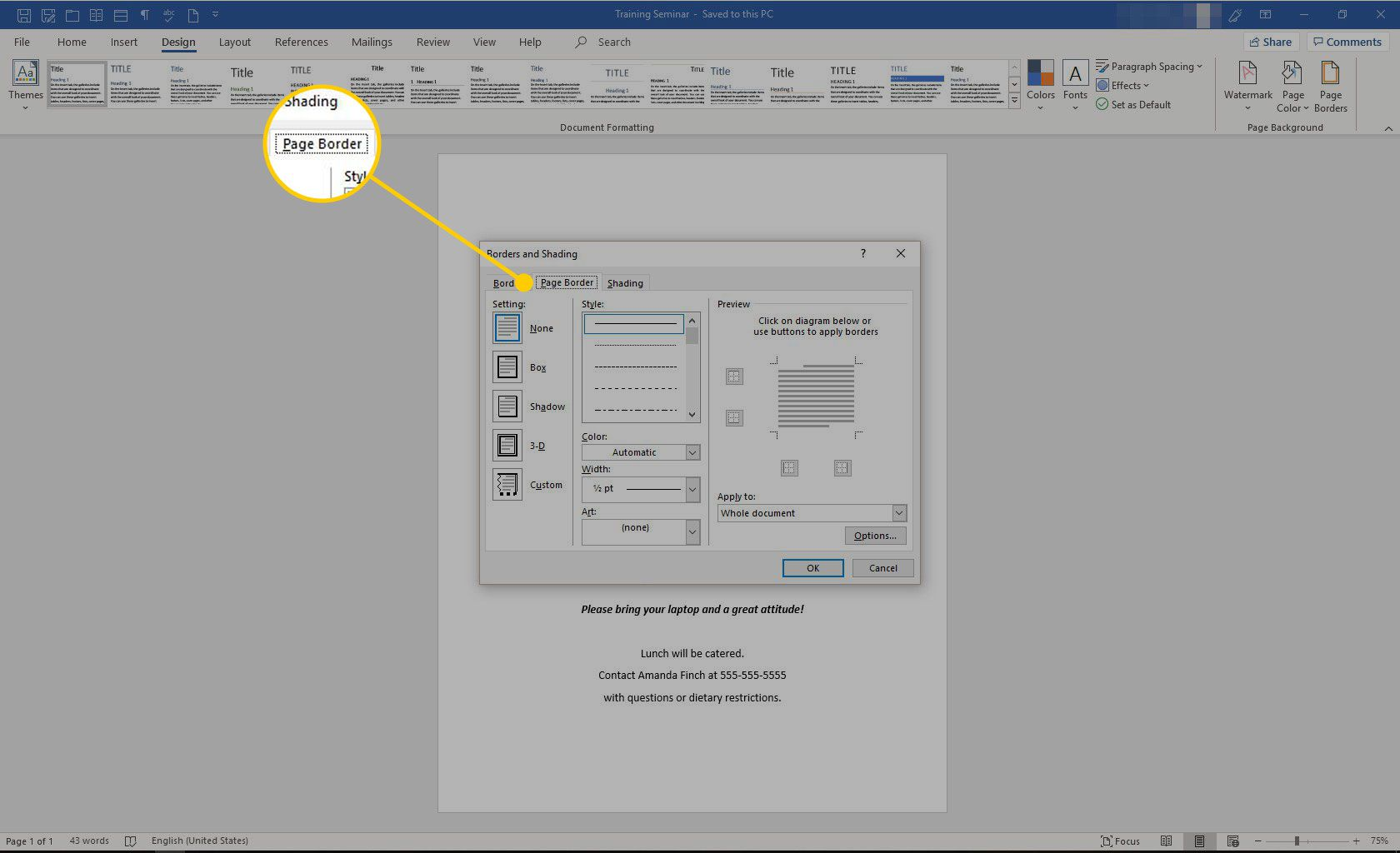 How to Create a Flyer Border in Microsoft Word.
