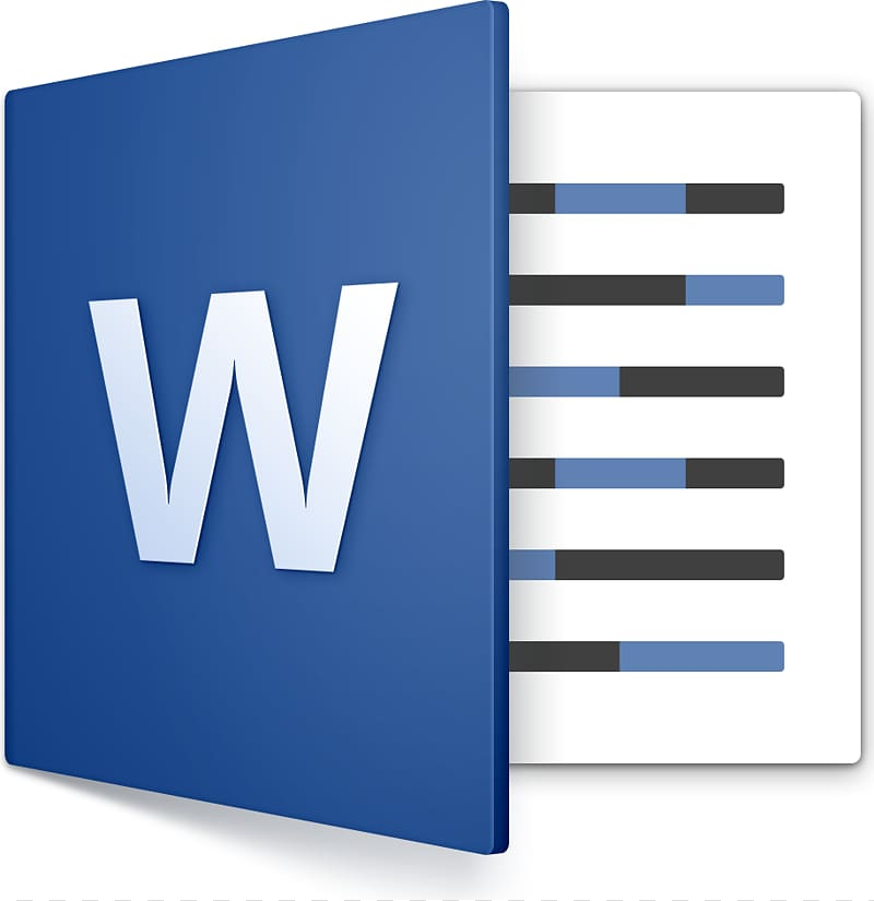 Microsoft Word application art, Microsoft Word macOS.