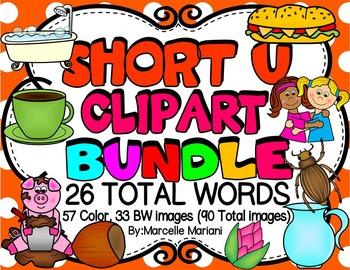 SHORT VOWEL U Clipart Bundle.