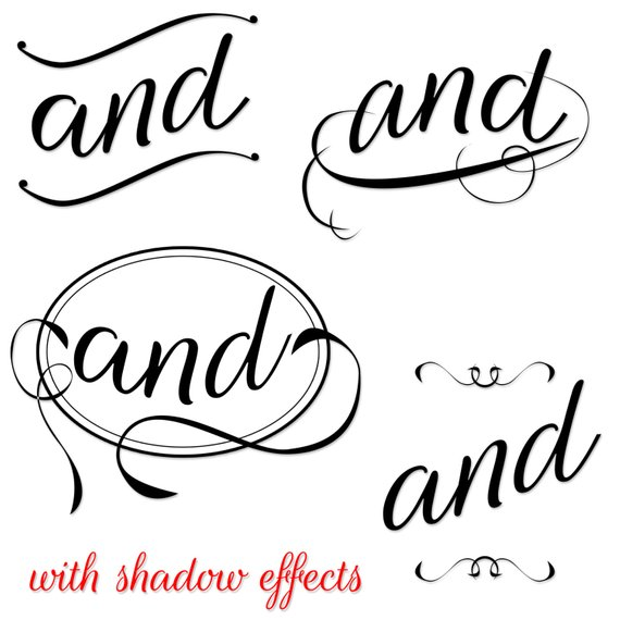 Commercial Use Instant Download Fancy Typography Clipart.
