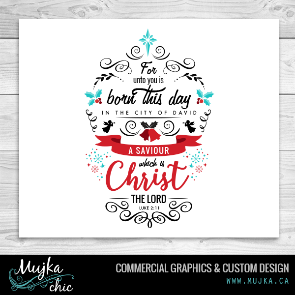 Custom Bible verse lettering and word art. www.mujka.ca.