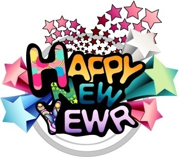 Happy new year word art free vector download (222,494 Free.