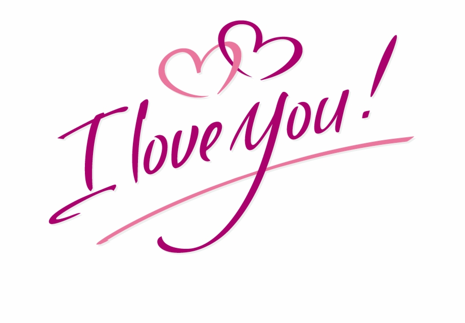 I Love You Text Vector Free Png Image File.