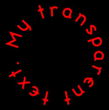 Transparent Text Generator.
