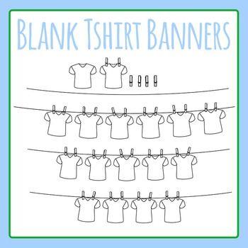 Blank Tshirt Word Banner / T.