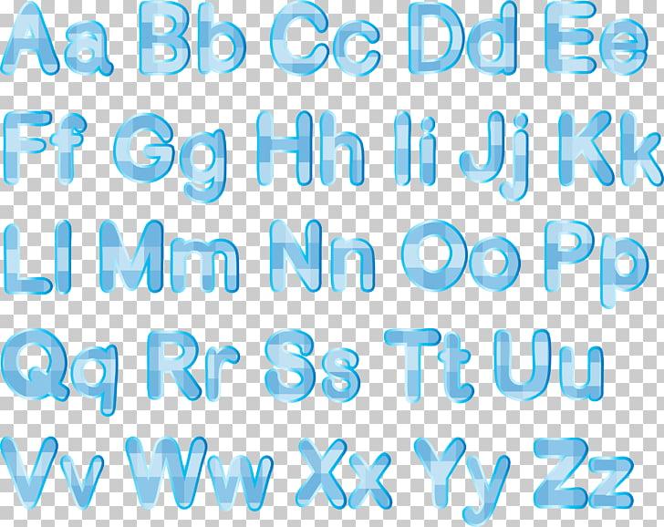 English alphabet Letter Illustration, Sky blue stripes.