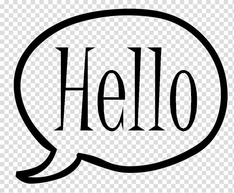 Hello Speech balloon , Word Bubbles transparent background.