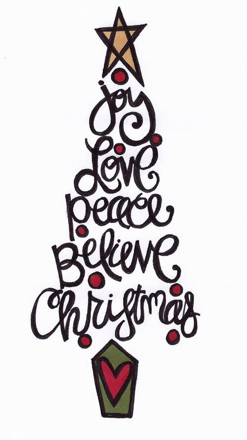 Word Christmas Tree.