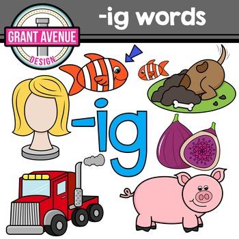 Word Family Clip Art.