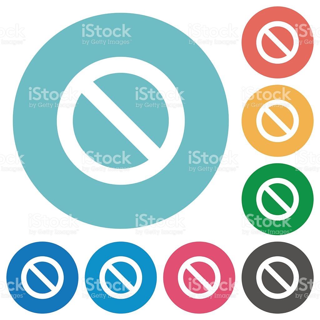 Flat Blocked Icons stock vector art 499739808.