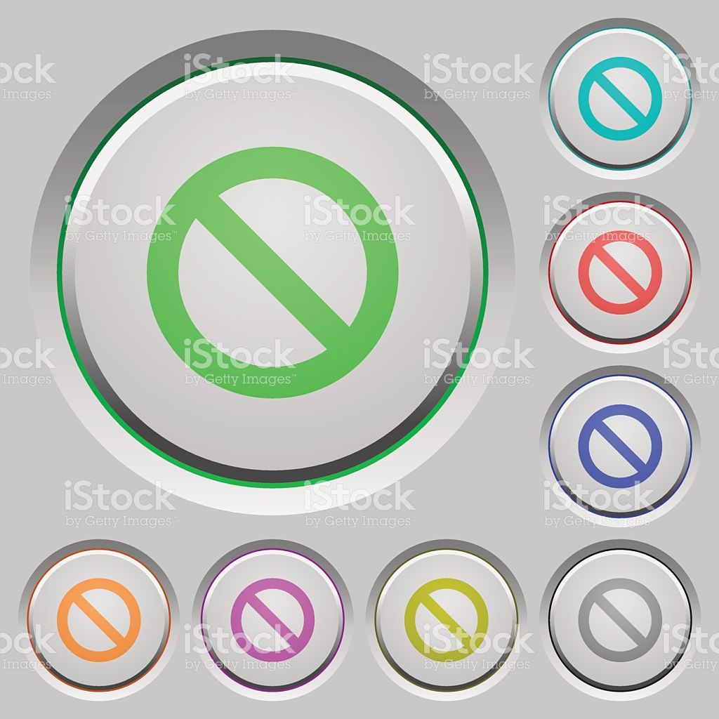 Blocked Push Buttons stock vector art 500906768.