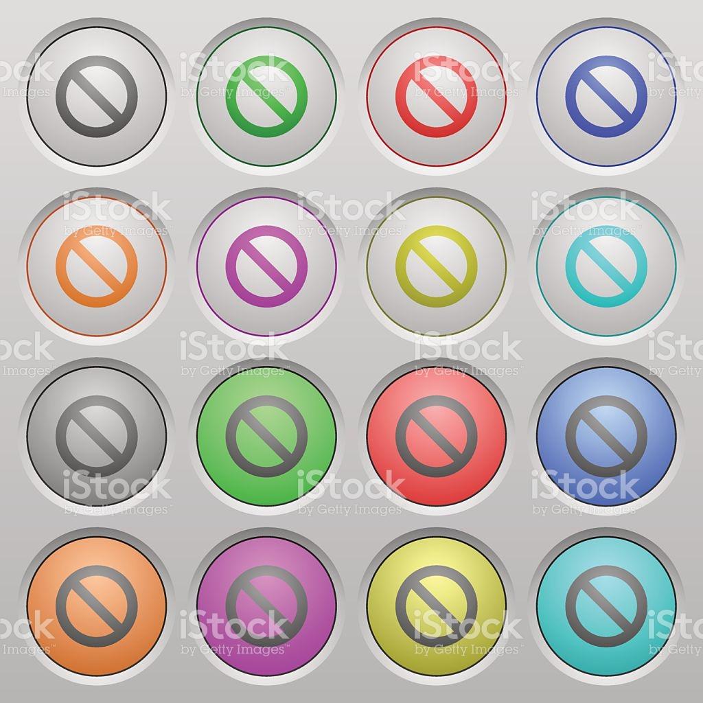 Blocked Plastic Sunk Buttons stock vector art 501890326.