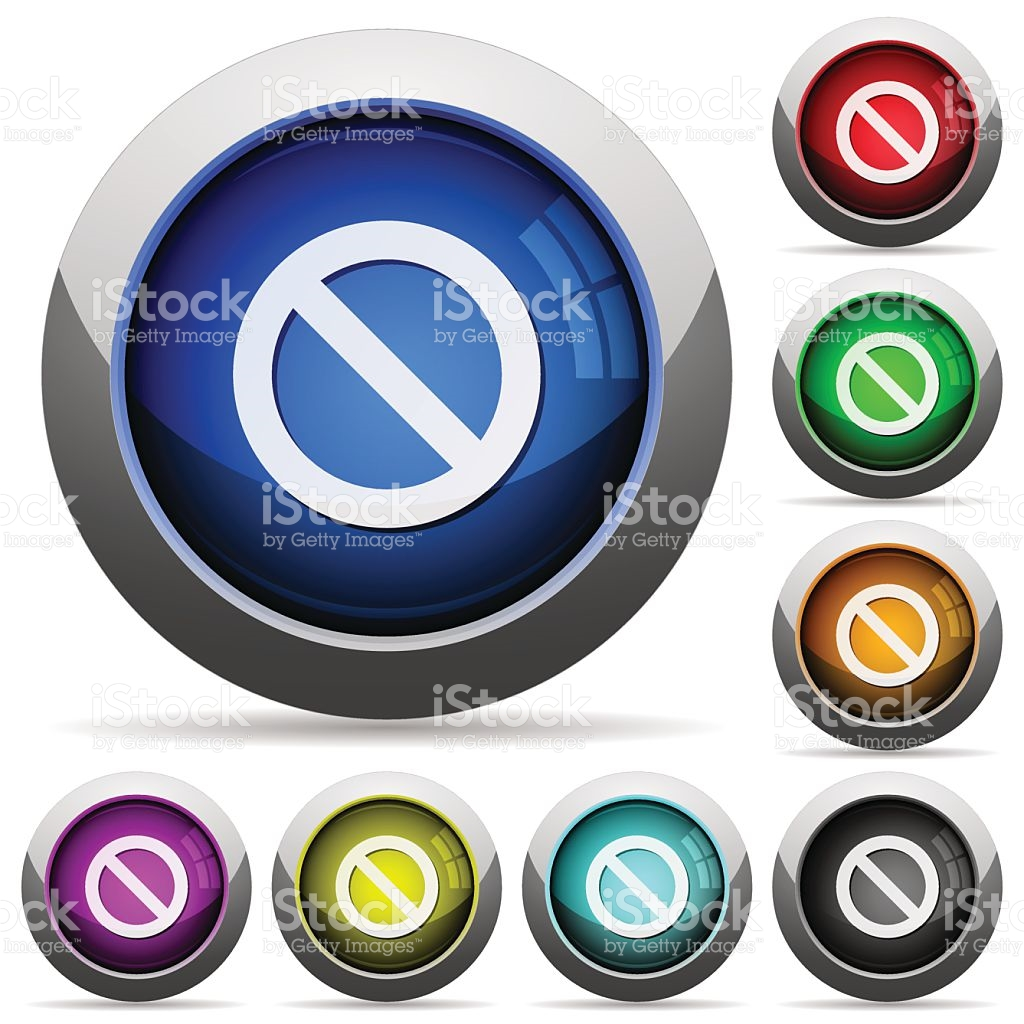 Blocked Button Set stock vector art 501290782.