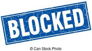 Vectors Illustration of Blocked.