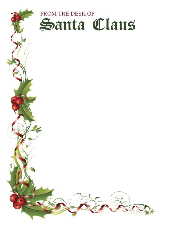 santa claus stationary microsoft word.
