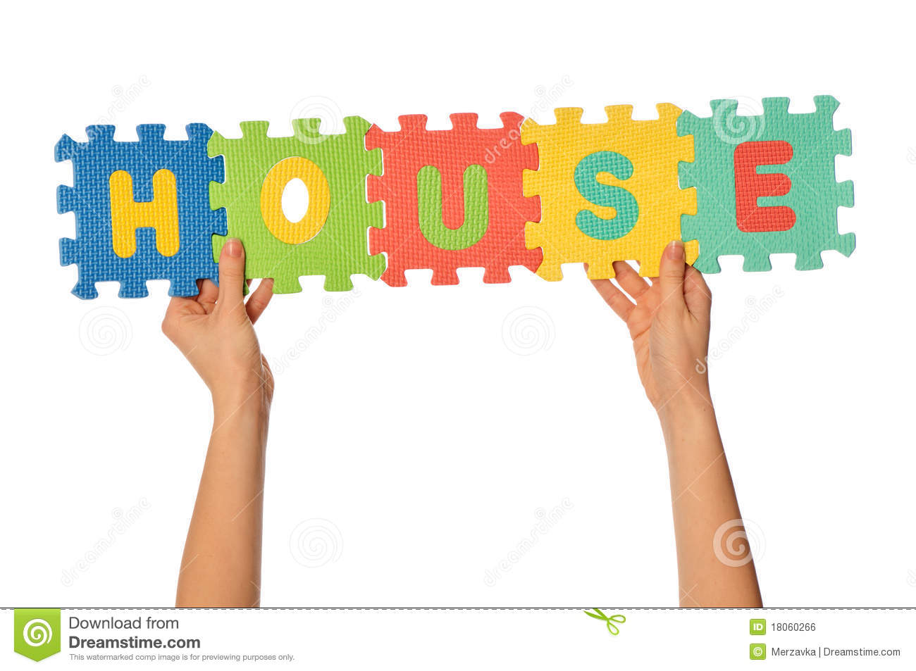 The Word House Royalty Free Stock Image.