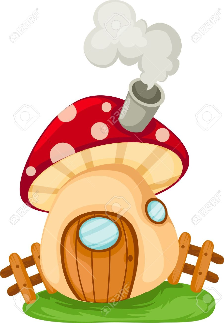 The Word Mushroom House Royalty Free Cliparts, Vectors, And Stock.