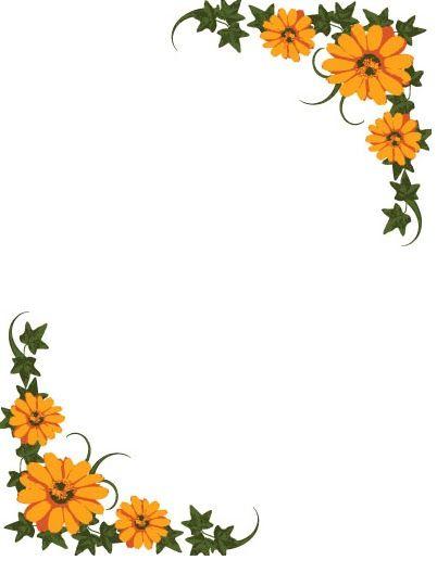 Margins for leaves of flowers.
