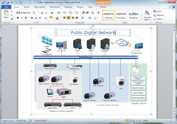 Network Diagram In Word.