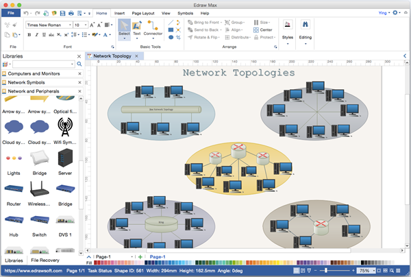 Network Diagram Alternative to Microsoft Visio for Mac.