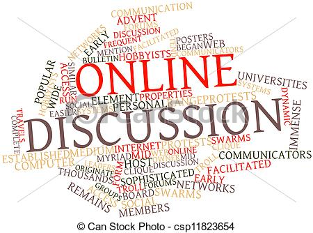 Stock Illustrations of Online discussion.