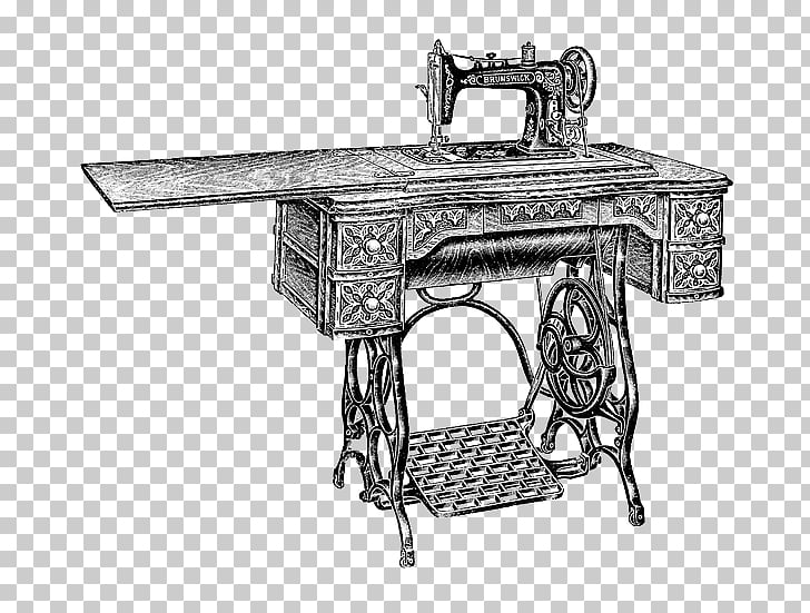 Sewing Machines Treadle , Vintage sewing machine PNG clipart.