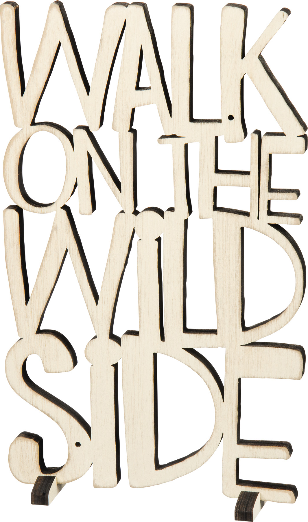 Walk on The Wild Side Word Art Sign Fluff from Primitives by Kathy.
