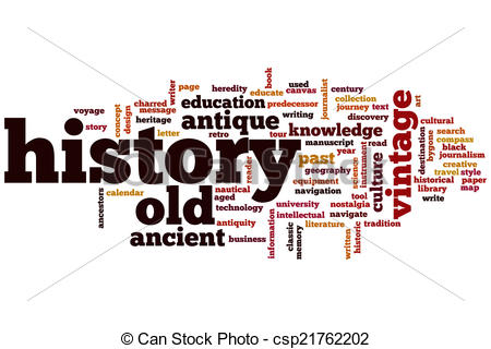 Stock Illustration of History word cloud.