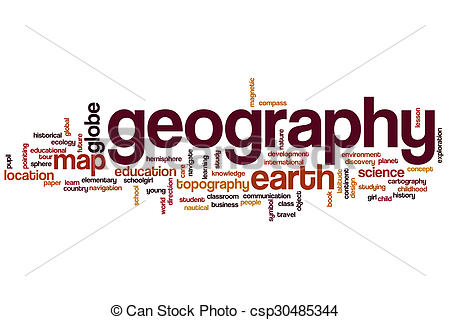Stock Photo of Geography word cloud concept.