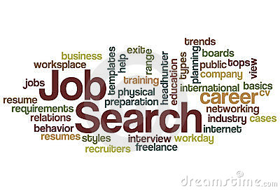 Job Search Word Cloud Stock Photos.